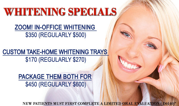 Dental whitening special